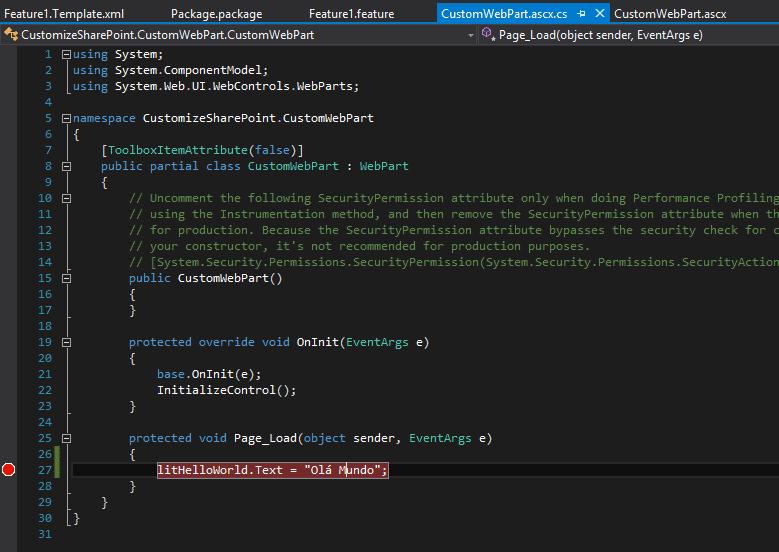Simple Web Part code